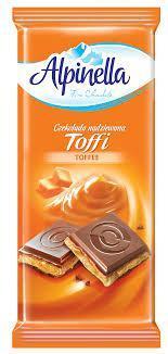 Шоколад молочный Alpinella Toffee, 90г