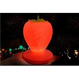 Силиконовый LED светильник-ночник Клубника. Розовая, фото 6