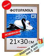 Фоторамка пластиковая А4, 21х30, рамка для фото, дипломов, сертификатов, грамот, картин, 1513-194
