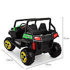 Двухместный детский электромобиль Багги 4WD M 3454EBLR-5 зеленый, фото 4