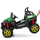 Двухместный детский электромобиль Багги 4WD M 3454EBLR-5 зеленый, фото 7