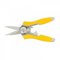 Секатор квітковий, 150 мм, металеві ручки з гумовими вставками // PALISAD LUXE 605008