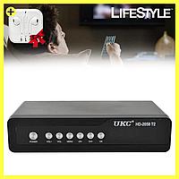 Тюнер цифрового телевидения DVB-T2 2058  + Подарок! Наушники Apple, фото 1