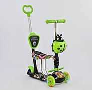 Дитячий триколісний самокат-беговел Best Scooter 5в1 колеса PU зі світлом 33650