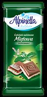 Шоколад молочный Alpinella Mietowa(мята) Польша , 90г