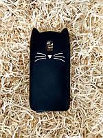 Силиконовый чехол Cat для Samsung J3 2017 (J330), черный
