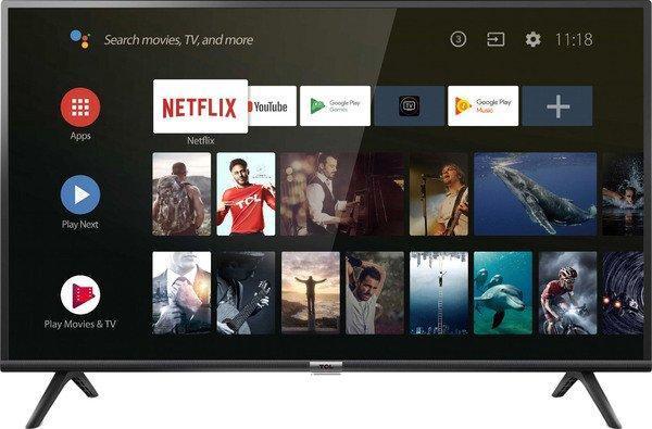 Телевизор  TCL 40ES561  (Smart TV / Android / Ultra HD / 4К / PPI 200 / Wi-Fi / DVB-C/T/S/T2/S2)