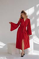 Платье - кимоно на запах с широкими рукавами арт 623