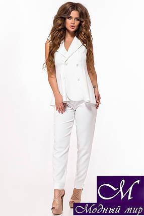 Женский белый костюм жилет + брюки (р. 42, 44, 46, 48, 50) арт. 29-032, фото 2