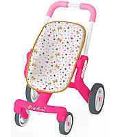 Коляска для кукол Smoby Baby Nurse 251223 с поворотными колесами игрушечная детская игровая для детей, фото 1