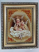 Икона  25*20 см. из янтаря