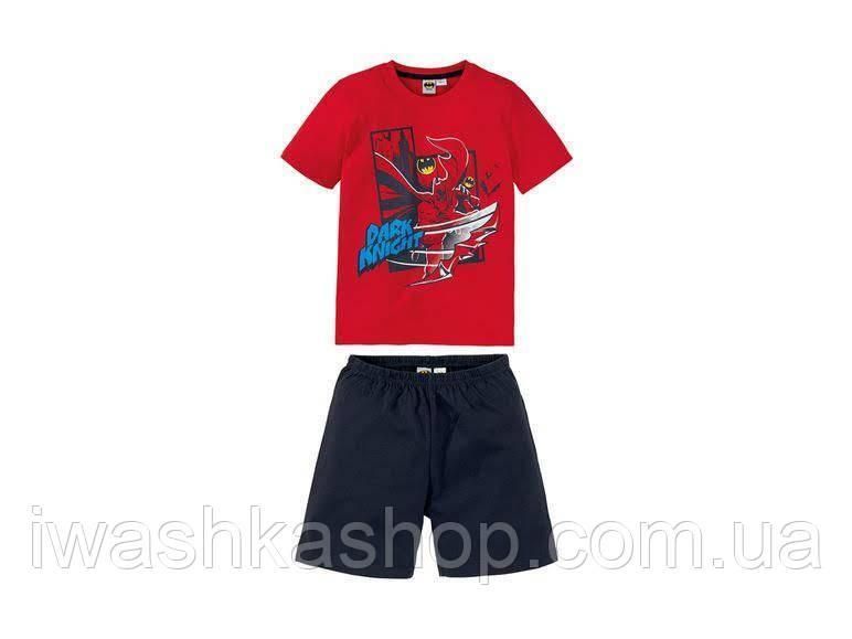 Яркая летняя пижама с Бэтменом для мальчика на 6 - 8 лет, р. 122 - 128, Batman / Lidl