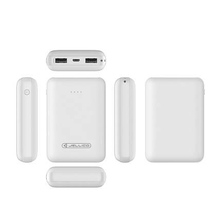 Внешний аккумулятор Jellico RM-120 Power bank 10000mAh белый, фото 2