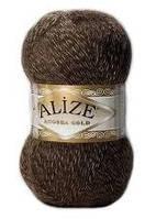 Зимняя пряжа (20% шерсть, 80% акрил; 100г/550м) Alize Angora Gold 707 (т.коричневый мулине)