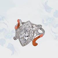 Кольцо из серебра с золотыми вставками, модель 100 (PC-gr-126397-h)