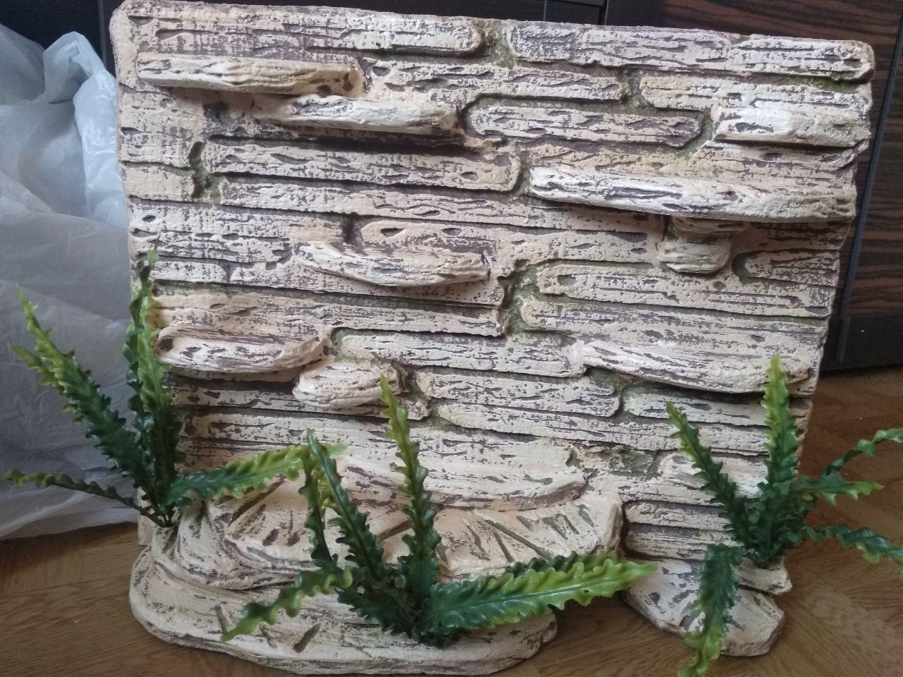 Фон для террариума - каменные ступеньки с укрытием