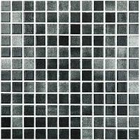 Мозаїка скляна димчаста Niebla Negro 25x25 mm