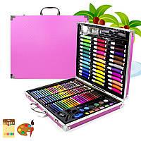 Набор для рисования Painting Set 150 предметов Pink Футляр Краски Маркеры Карандаши Пастель