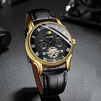 Часы мужские наручные Tevise (T851A), Gold, механические, с автоподзаводом