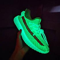 Мужские кроссовки в стиле Adidas Yeezy Boost 350 V2 Neon Green, фото 3