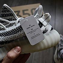 Мужские кроссовки в стиле Adidas Yeezy Boost 350 V2 Zebra, фото 2