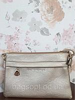 Золотой клатч сумка женский повседневный Pretty Woman с плечевым ремешком Одесса 7 км, фото 1