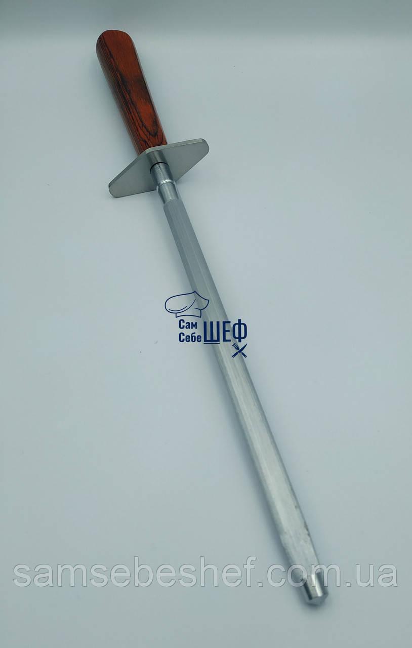 Мусат сталевий з дерев'яною рукояткою GA Династія 20.5 см, 11175