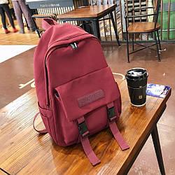 Бардовый однотонный рюкзак женский с водонепроницаемой пропиткой Rassonet(AV225).