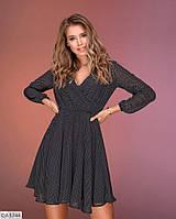 Шифоновое красивое расклешенное платье арт д15273
