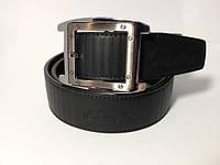 Ремень Cartier черный экокожа