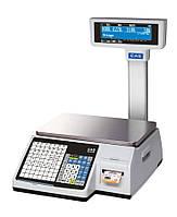 Весы для печати на этикетке CAS CL 3500-J-IP (со стойкой)