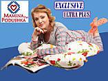 """Подушка для вагітних Exclusive ULTRA PLUS, в комплекті наволочка 2-стор.-Поплін """"Весна""""+жовтий.точки, фото 7"""
