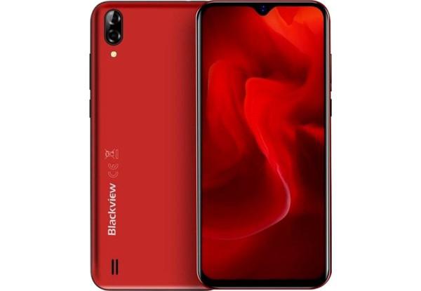 Смартфон Blackview A60 c чехлом и пленкой красный .