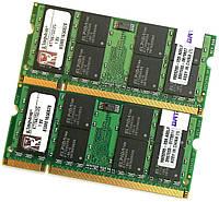 Пара оперативной памяти для ноутбука Kingston SODIMM DDR2 4Gb (2Gb+2Gb) 667MHz 5300s CL5 (KTT667D2/2G) Б/У, фото 1
