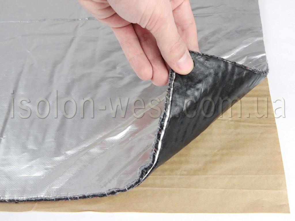 Виброшумка войлочная фольгированная 3в1 8ФСВВ/2.0 (50х70)см, толщина 10мм, влагостойкая, многослойная