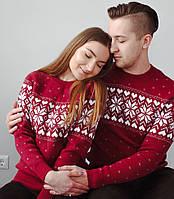 """Коллекция  вязаных свитеров для пары """" Валентинка"""""""