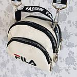 Женская сумка через плечо баретка Fila маленькая, фото 3
