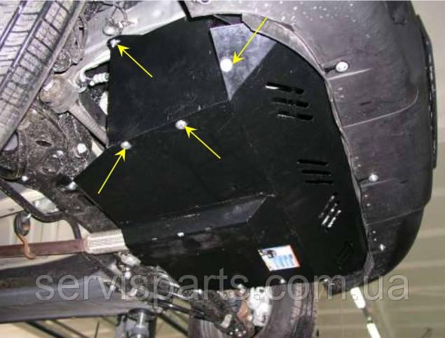 Защита двигателя Fiat Doblo 2002- (Фиат Добло)