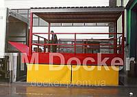 Подъемник ножничный 4000х2000мм Docker, ход 1,6м с навесом и аппарелью
