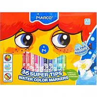 Фломастеры 36 цветов Super Washable Marco 1630-36СВ/34102