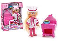 """Кукла маленькая K899-18 (192шт/2) """"Кондитер"""", с печкой, пирогом,в кор. 12*5*16см"""