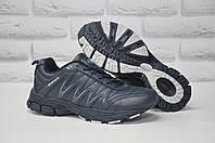 Мужские кожаные синие кроссовки BONA (размеры:41,42,43,44,45,46)
