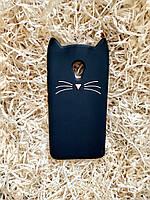 Силиконовый чехол Cat для Meizu M5, черный