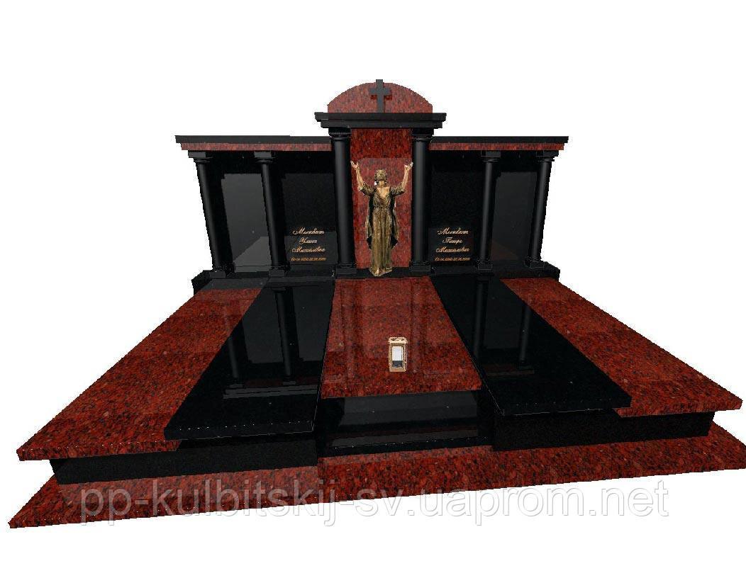 Пам'ятник гранітний подвійний Ексклюзивний S1900