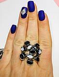 Перстень в серебре с  раухтопазами Амидея, фото 4