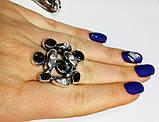 Перстень в серебре с  раухтопазами Амидея, фото 5