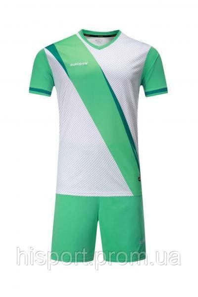 Игровая футбольная форма для команд бело-бирюзовая Europaw