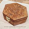 Коробочка для кільця з дерева з вашої гравіруванням!