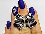Масивні сережки з раухтопазами срібло Амидея, фото 3
