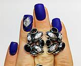 Масивні сережки з раухтопазами срібло Амидея, фото 4